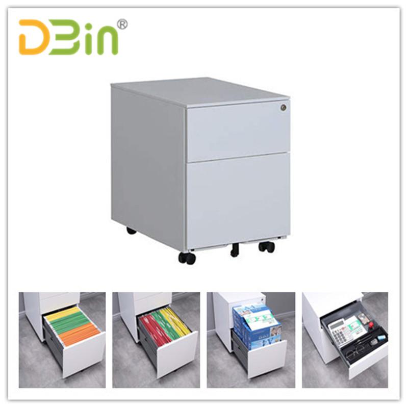 2 drawer white side open pedestal04