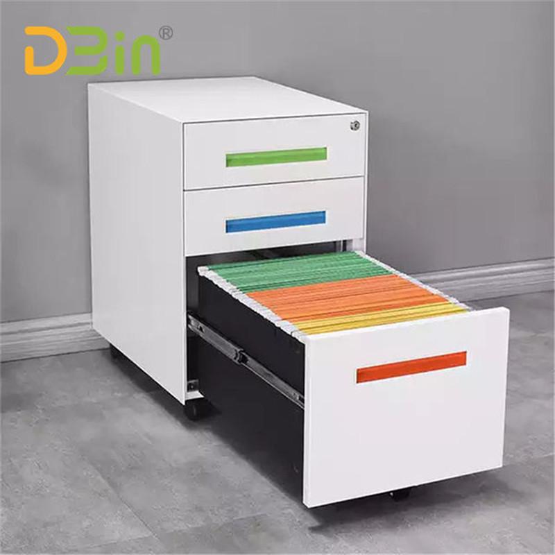 3 drawer colorful mobile pedestal01